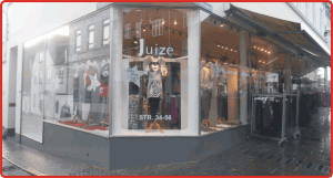 Vinduesdekoration butik folie